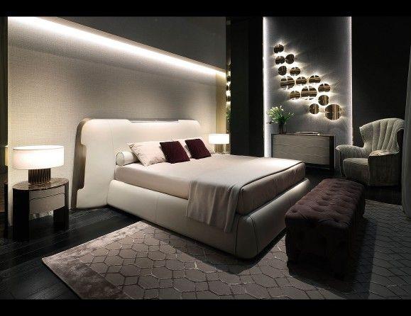 Nella Vetrina Rugiano Cover 2043 Upholstered Bed in Cream .