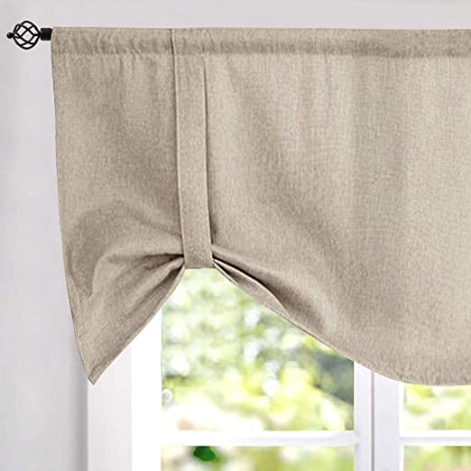 Amazon.com: Tie-up Valances for Windows Linen Textured Room .