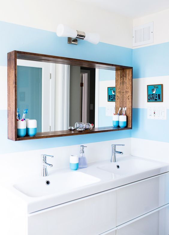Before & After: A Big Sea of Bright | Design*Sponge | Bathroom .