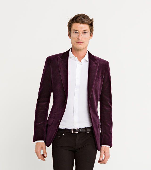 Fitzroy Custom Made Burgundy Velvet Blazer - Mansolute