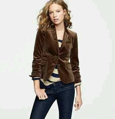 Great way to wear my brown velvet blazer | Velvet blazer women .