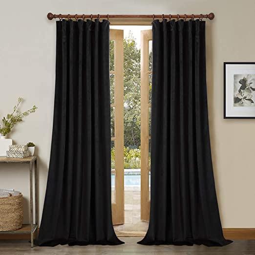 Amazon.com: Patio Door Blackout Velvet Curtains - 96 Inches Long .