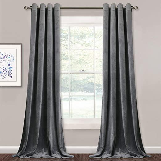 Amazon.com: Extra Long Velvet Curtain Panels - Super Soft Velvet .