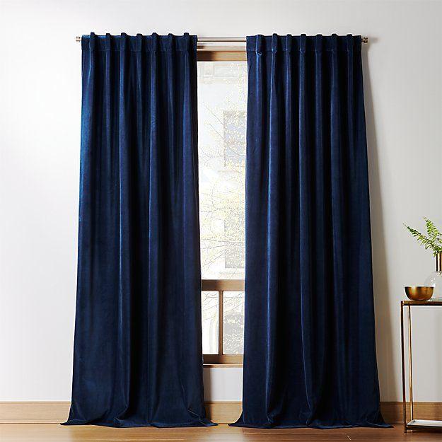 Velvet Curtain Panel Midnight Blue (With images) | Blue velvet .