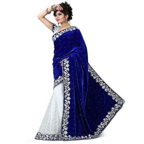 Ladies Velvet Saree at Rs 500/piece | Velvet Sarees | ID: 134327810