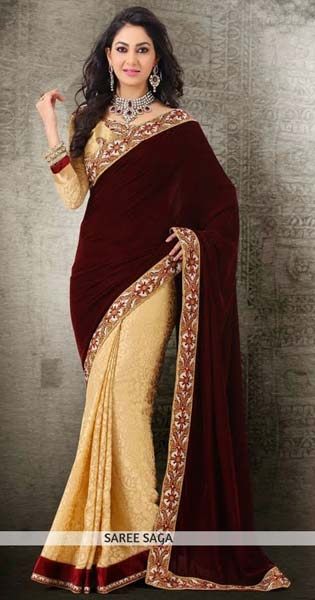 Velvet Sarees Manufacturer in Surat Gujarat India by Shree Sai .