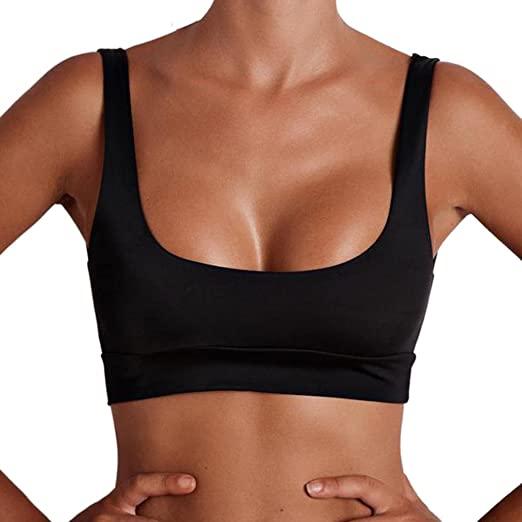 Amazon.com: Koolee Women Backless Tank Tops Tight Short Vest Top O .
