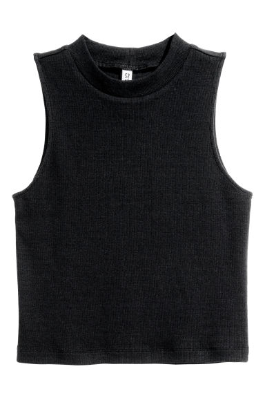 Crop vest top - Black - Ladies | H&M