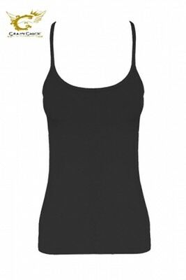 New Ladies Black Racer Back Vest Top Gym Workout Running .