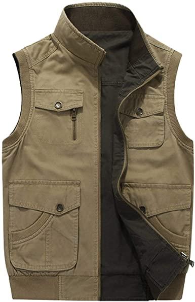 Double wear Plus Size 6XL 7XL 8XL AFS Jeep Brand Mens Vests .