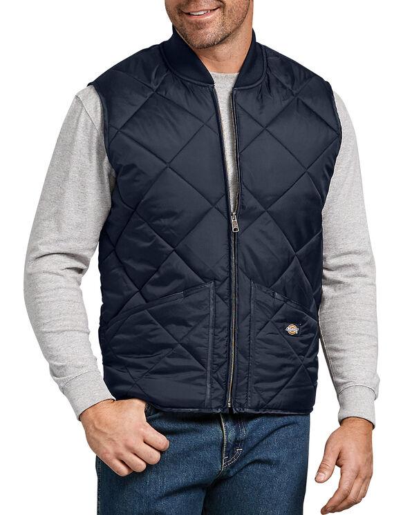 Quilted Nylon Vest for Men , Dark Navy 3XL | Dicki