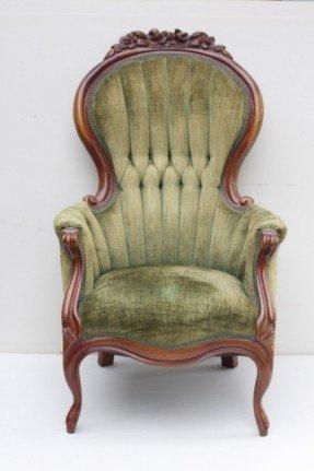 Luxury Vintage Chair with tufted sage vintage chairs - Vintage Dec