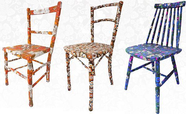 Unique vintage chairs by M