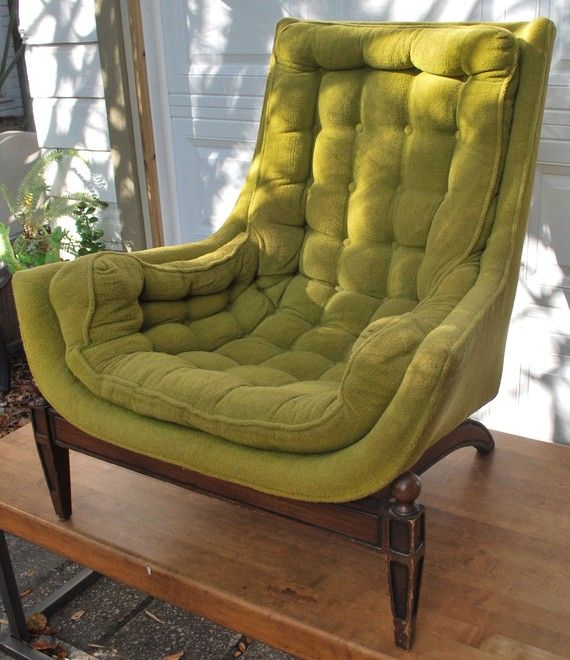 Looks like you could melt into this chair (With images) | Green .