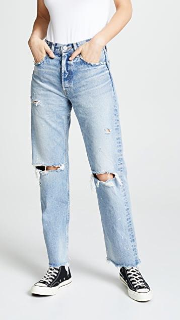 MOUSSY VINTAGE MV Odessa Wide Straight Jeans | SHOPB