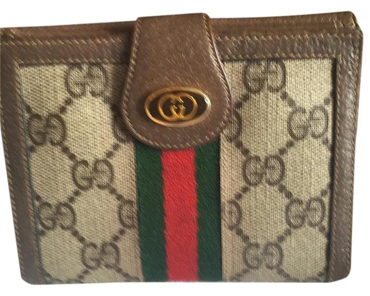 Gucci Brown Gg Monogram Wallet 77% off retail | Gucci wallet .
