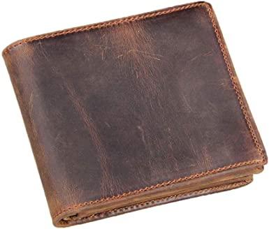 Amazon.com: HRS Genuine Leather Wallets for Men-Handmade Vintage .