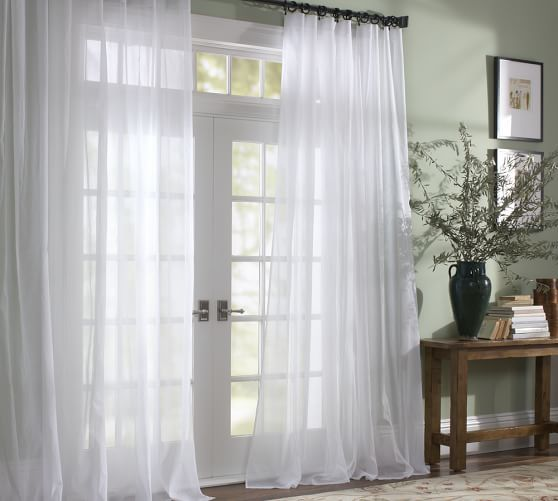 Classic Voile Sheer Curtain - Alabaster (With images) | White .