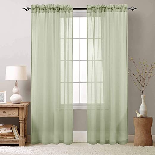 Amazon.com: Voile Curtains for Bedroom Sheer Curtain 84 inch Long .