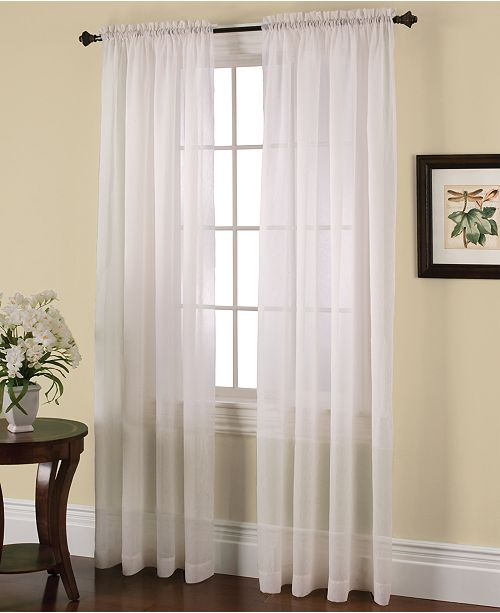 Miller Curtains Solunar Crushed Voile Insulating Sheer Curtain .