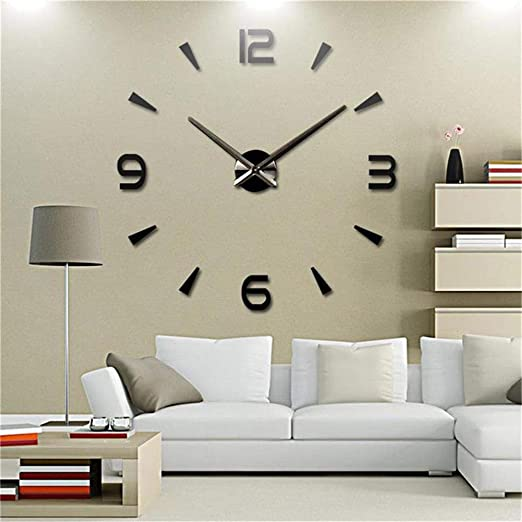 Amazon.com: FASHION in THE CITY 3D DIY Wall Clock Creative Design .