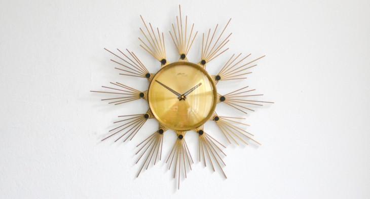 16+ Sunburst Wall Clock Designs, Ideas | Design Trends - Premium .