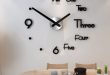 New Acrylic Large Wall Clock, Modern Design With 3D View, Living .