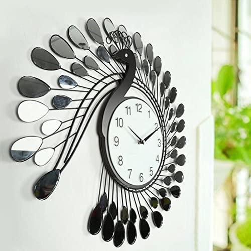 Amazon.com: Modern Design Creative Peacock Wall Clocks Home .