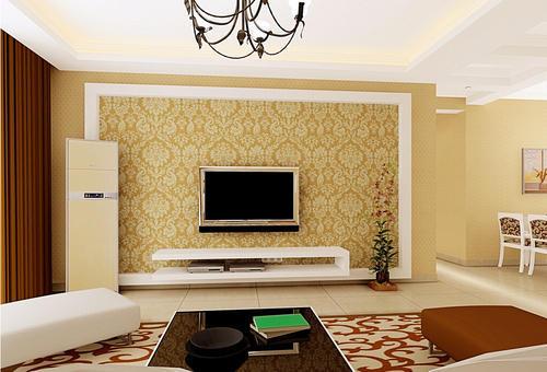 Living Hall Wall Design In Telangana, Sahasraa Interiors | ID .