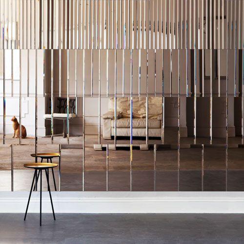 Mirror Wall Panel | Pleat Mirror | by Afroditi Krassa | Украсить .