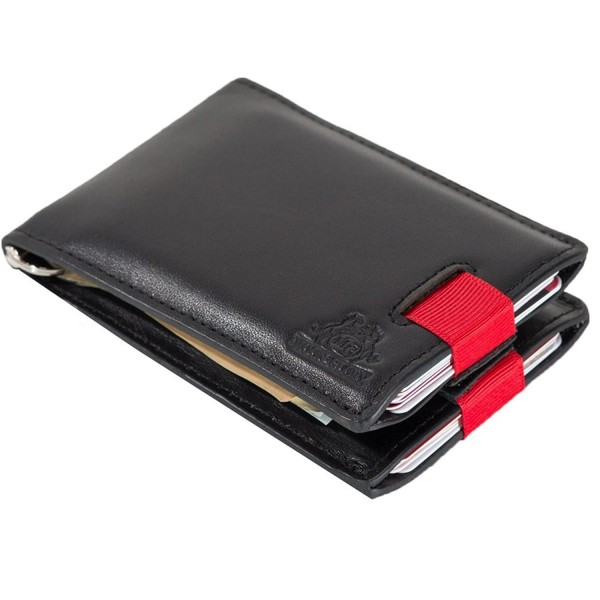 RFID Blocking Bifold Leather Minimalist Front Pocket Wallets for .
