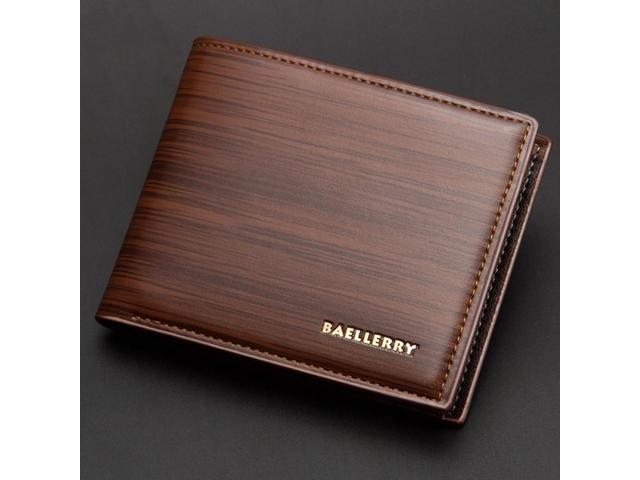 Baellerry Small Wallet Men Leather Slim Purse Famous Brand Thin .