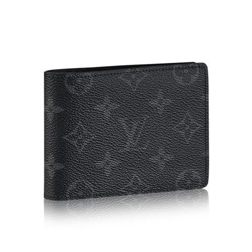Black louis vuitton wallet men card leather wallets for men .
