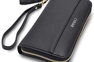 Amazon.com: Cyanb Women Wallets Tassel Bifold Ladies Cluth .