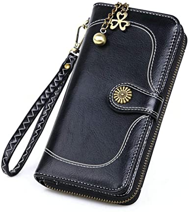 New Vintage Button Phone Wallets Women Wallet Woman Purse Leather .