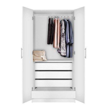 Alta Wardrobe Closet - 2 Doors, 4 Interior Drawers | Contempo Spa