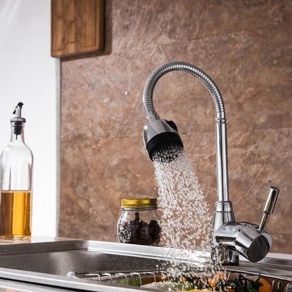 New Zinc Alloy 360 Degree Rotatable Hot Cold Mixer Tap Kitchen .