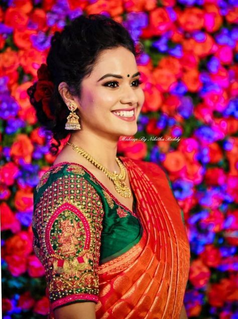 Pin by S.Kumaran on Kumaran | Wedding saree blouse designs .