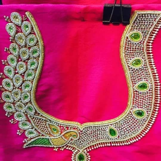"styles20.com on Twitter: ""Wedding Blouse Embroidery designs for ."