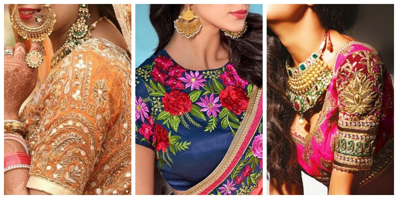 10 blouse embroidery designs to check out this wedding season .
