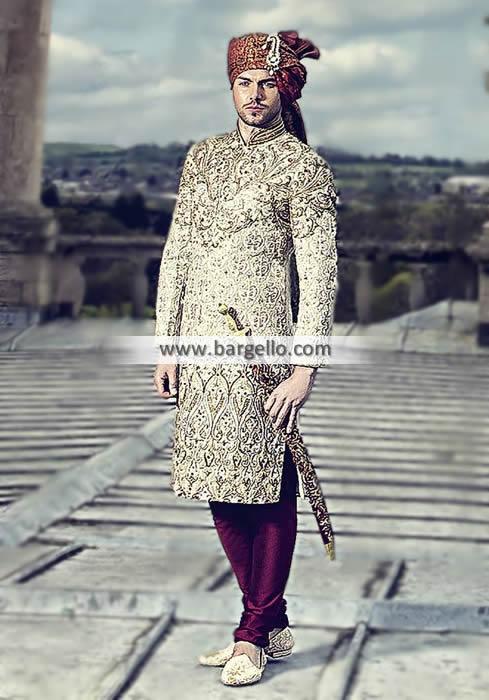 Ahsan's UK Designer Sherwani Collection Groom Wedding .
