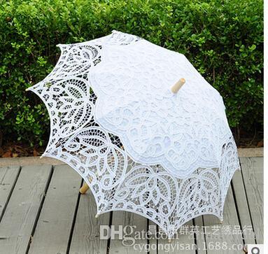 2020 2017 White Wedding Parasols Handmade Umbrellas Lace Artifull .