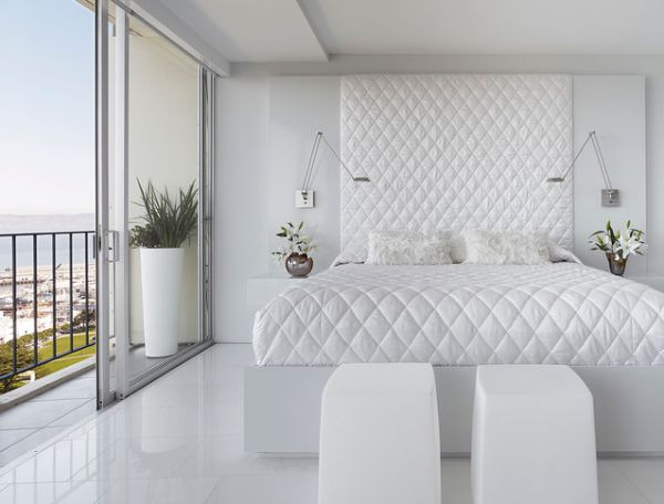White bedroom design ideas. Simple, serene and styli