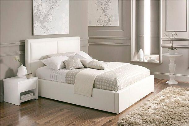 8 Sensible Decorative White Bed Designs | White leather b