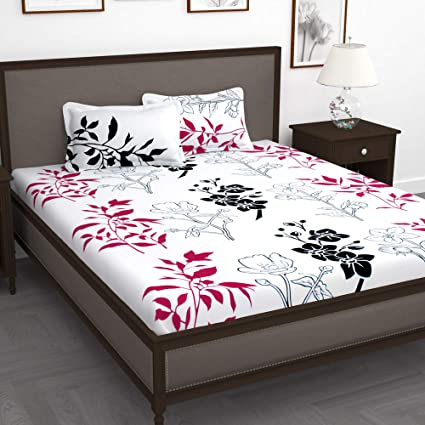 Story@Home Floral Leaf Print Combed Cotton Elegant Luxury Designer .