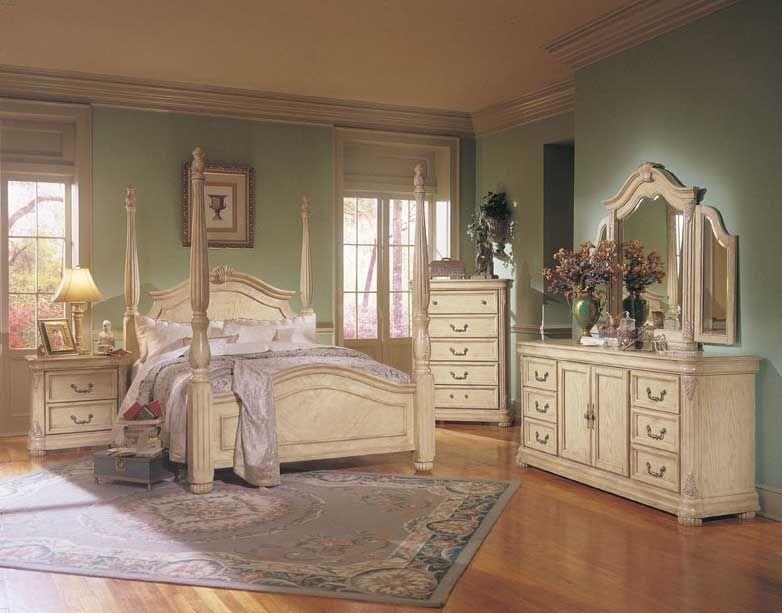Off White Bedroom Furniture | Vintage bedroom furniture, Antique .