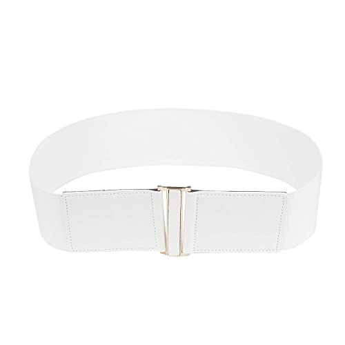 White Stretch Belt: Amazon.c