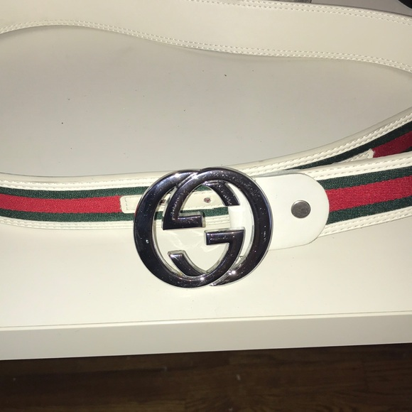 Gucci Accessories | Size 32 Authentic White Belt | Poshma