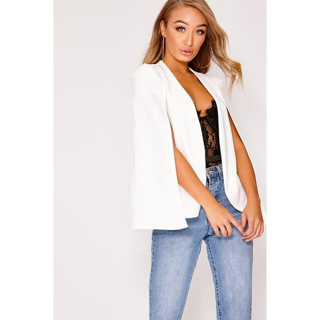 White Blazers - White Cape Blazer from In The Style on 21 Butto