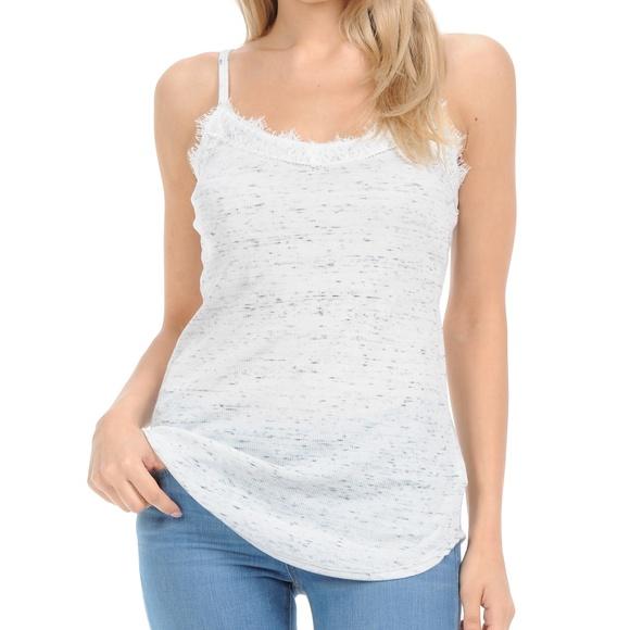 Magic Fit Tops | White Lace Camisole Top | Poshma